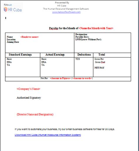 rental invoice template 41 excellent salary slip payslip template examples thogati