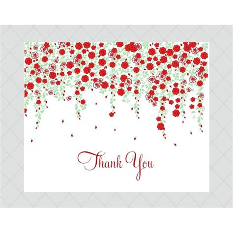 make thank you cards with photos free flower wedding invitations style 659 whimsicalprints
