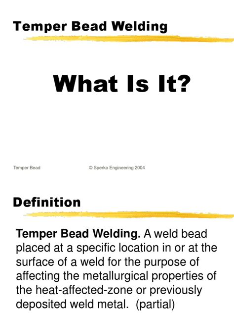 welding bead definition the alternative to pwht temper bead welding by walter j