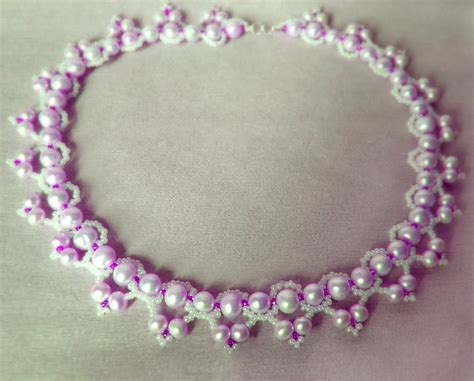 beaded necklace patterns free pattern for beaded necklace clematis magic