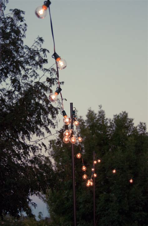 poles to hang string lights bright july diy outdoor string lights