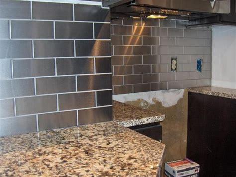 stainless tiles for backsplash contemporary stainless steel backsplash tile ideas great
