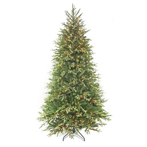 lowes pre lit artificial tree living 7 5 ft pre lit tree type artificial