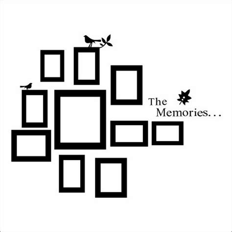 frame wall sticker creative wall decal picture frames put all that on