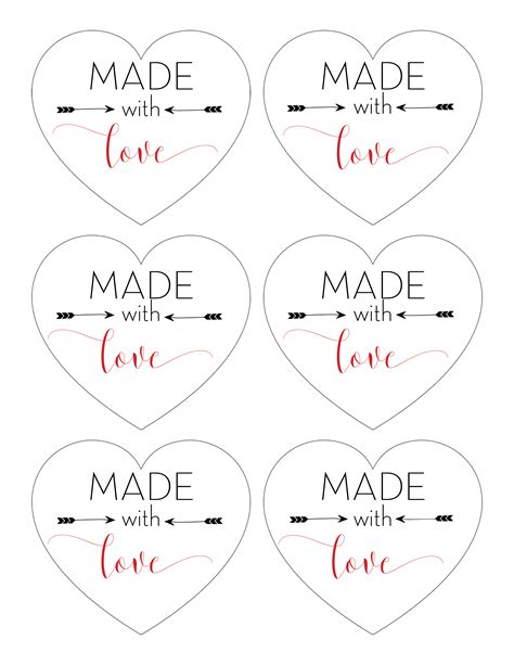 made gifts quot made with quot printable tags for gifts