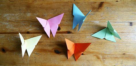 mit origami origami schmetterlinge mit kindern basteln