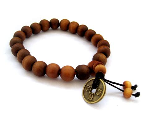 Tibetan Buddhist 21 Wood Prayer Wrist Mala