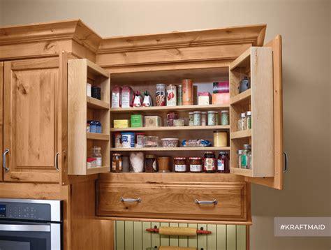 kitchen storage pantry cabinet kraftmaid multi storage kitchen wall pantry rustic