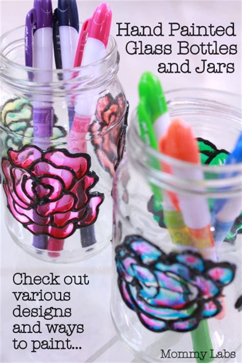 diy arts and craft projects painted glass bottles and jars different ways to paint