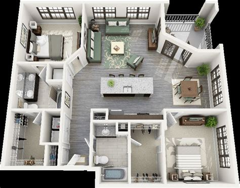 house design layout small bedroom 50 two quot 2 quot bedroom apartment house plans architecture
