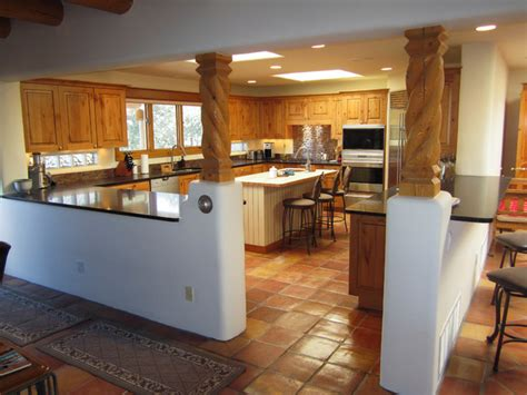 Pueblo Style Ranch Home santa fe style kitchens southwestern kitchen