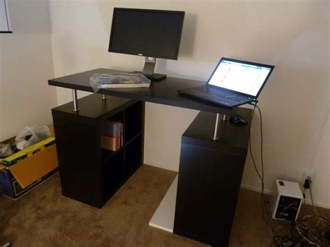 ikea standing desks furniture ikea standing desk with computer monitor