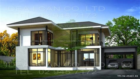 modern home designs plans modern house plans 2 story