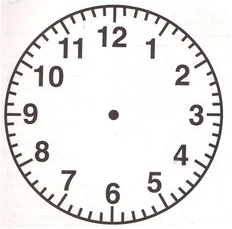 clock craft for blank clock faces printable activity shelter