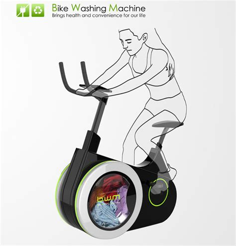 Eco Friendly Shower Cleaner by Bike Washing Machine Wash Your Clothes While Riding The