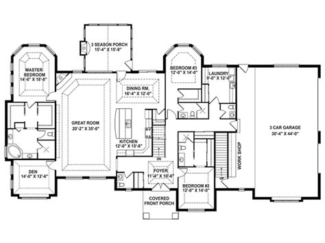 one story open house plans craftsman house plan story retreat open floor house plans 55897