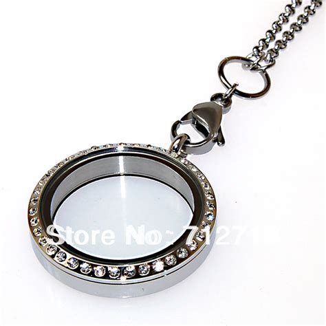 jewelry lockets diy necklace stainless steel magnetic open floating charm