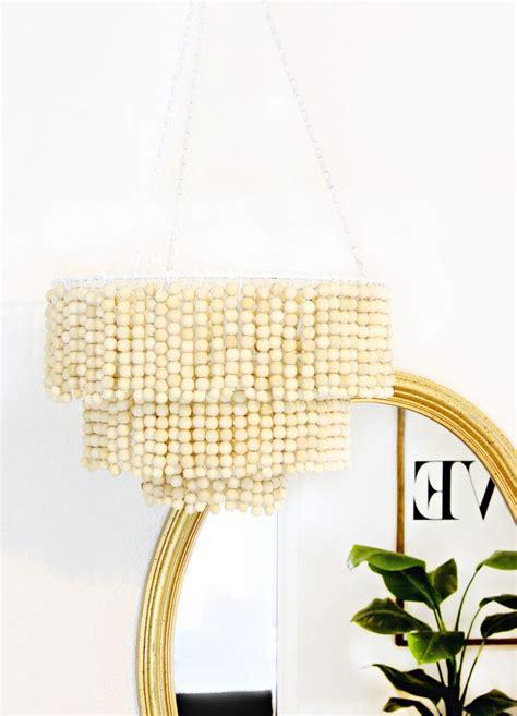 diy bead chandelier diy wooden bead chandelier a beautiful mess