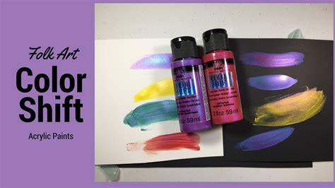 folk acrylic paint colors folk color shift acrylic paint