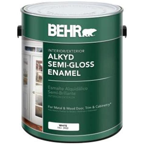 home depot paint jumpsuit behr 1 gal white alkyd semi gloss enamel interior