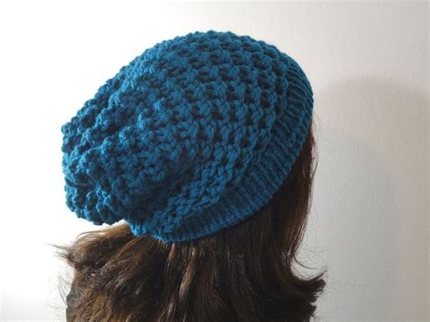 knit loom hat how to loom knit a slouchy beanie hat diy tutorial