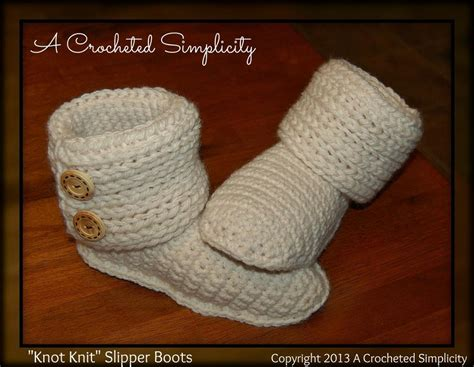 free knit slipper boot pattern knot knit quot slipper boots pattern images frompo