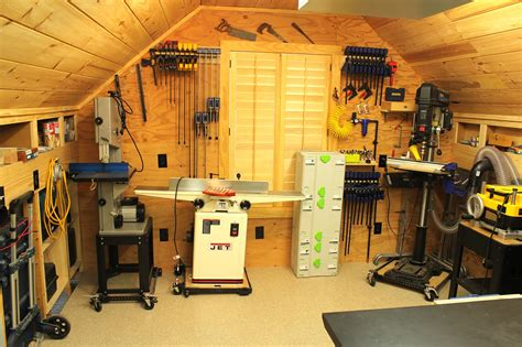 mobile woodworking shop woodshop workshop 2nd floor of garage