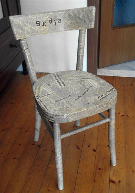 decoupage with newspaper the chair s project s la caserma d la c 252 ntr 225 ria