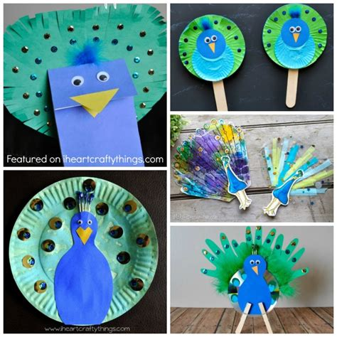 peacock crafts for 50 zoo animal crafts for i crafty things