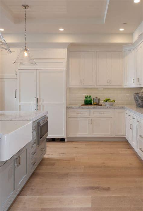 hardwood kitchen cabinets 1000 ideas about wood floor kitchen on white