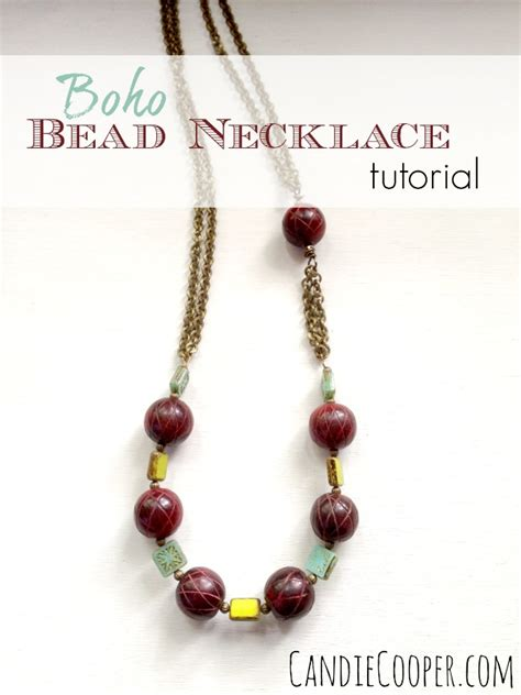 how to make a beaded chain necklace how to make a boho bead and chain necklace candie cooper
