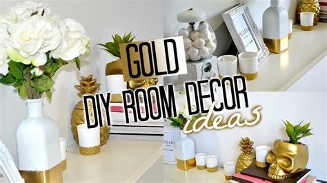 gold decor diy room decor gold tobie hickey