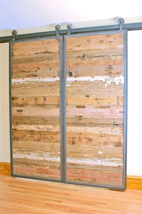 reclaimed wood barn doors barn doors in reclaimed wood tracks included