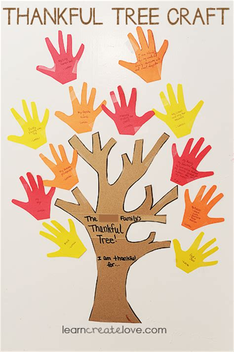 thankful crafts for thankful tree craft