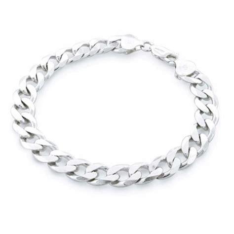 silver bracelet mens sterling silver 200 curb link bracelet 9 inch