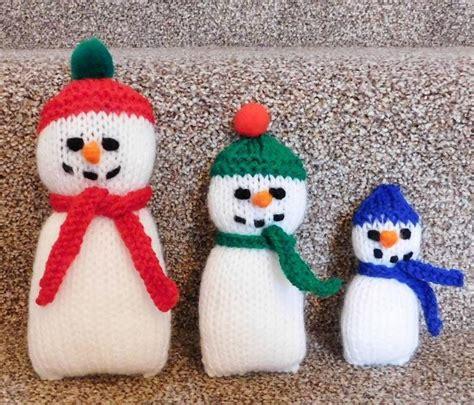 free knitting patterns snowman adorable knitted snowman family allfreeknitting