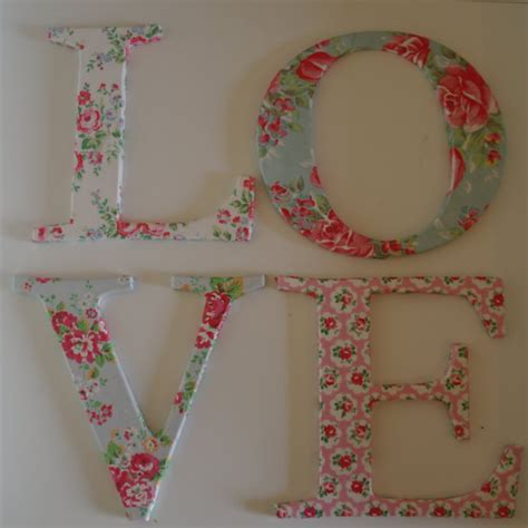 decoupage cardboard letters letters decoupage with cath kidston paper shabby chic