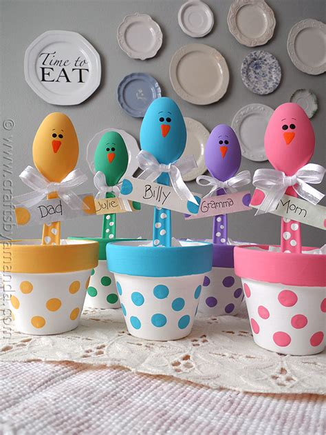 easter crafts easter craft colorful place holders