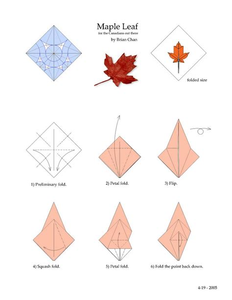 origami maple leaf diagrams