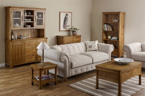 living room oak furniture orrick rustic solid oak living room traditional