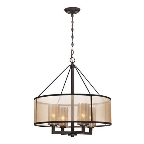 drum and chandelier shop westmore lighting sandbar 24 in 4 light rubbed bronze drum chandelier at lowes