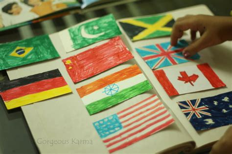 international crafts for learning why countries fly flags independence day