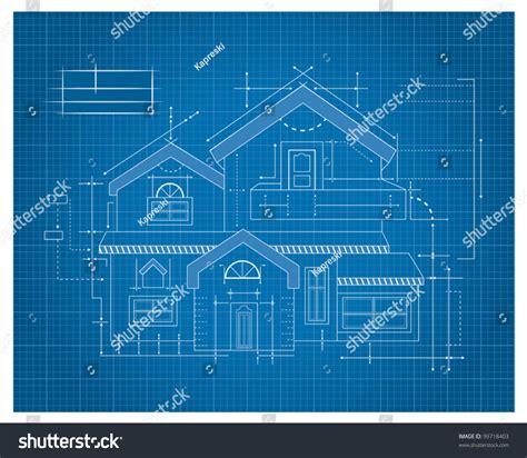 draft a blueprint of your home modern house blueprint stock vector 99718403