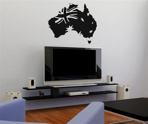 vinyl wall stickers australia vinyl wall decal sticker australian map with flag os aa494