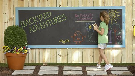 diy chalkboard lowes primer and painted nails outdoor chalkboard