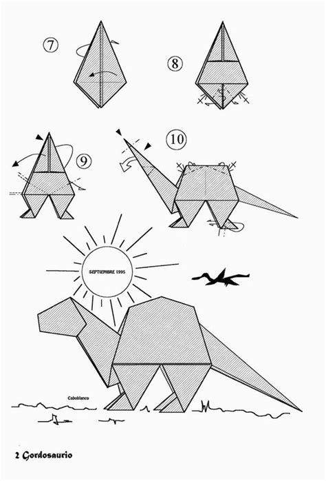 origami dinosaur step by step how to make a paper dinosaur step by step www pixshark