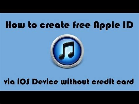 how to make a apple id without credit card how to create free apple id via ios device ios 7
