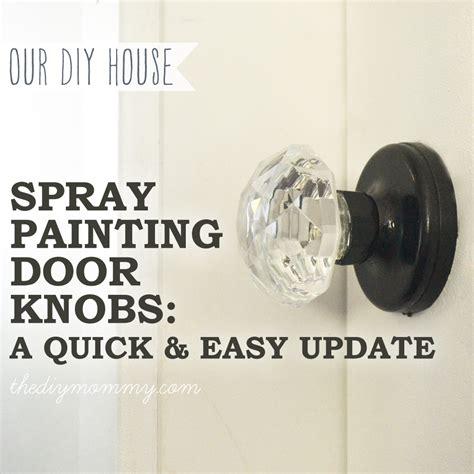 spray paint door knobs bathroom the diy