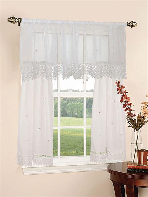 kitchen curtain sets design sheer 3pc kitchen curtain set 18 60 quot valance