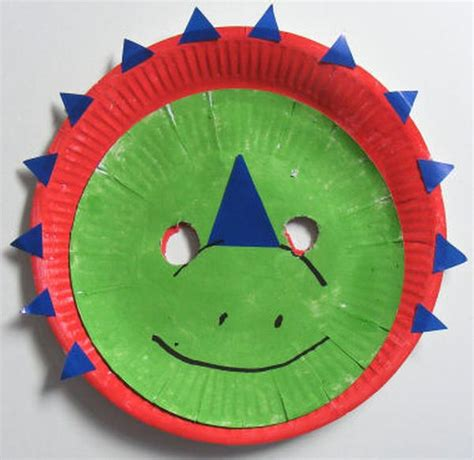 paper plate mask craft seven recycled paper plate projects for green diary